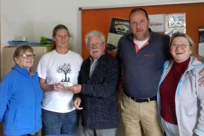 Connie and Jurgen donate €300 to Valle Verde Animal Rescue