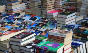 Flea market book stall