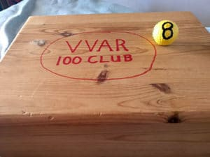 Winning number 8 and the 100 Club box