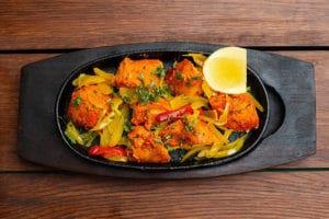 dish of tandoori chicken